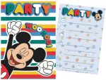 Disney Mickey Party Einladungkarte