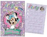 Disney Minnie Party Einladungkarte