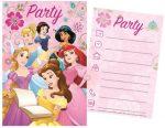 Disney Princess Party Einladungkarte