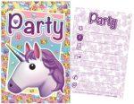 Einhorn Party Einladungkarte