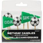 Fußball Goal Kerzenset 6 Stücke