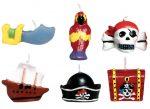 Pirat mini Kuchenkerze Set 6 Stücke