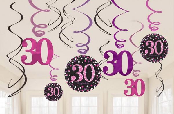 30 Geburtstag Streifen Dekoration 12 Stucke Javoli Disney