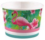 Flamingo Papier Eisbecher (8 Stücke) 270 ml
