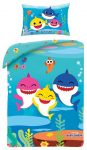 Baby Shark Bettwäsche 100x135 cm, 40x60 cm