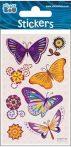 Schmetterling Aufkleber mit silberner Dekoration