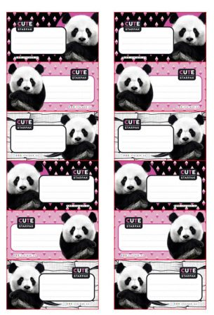 Panda Broschürenetikett